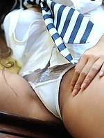British college girls in uniform in retro nylons